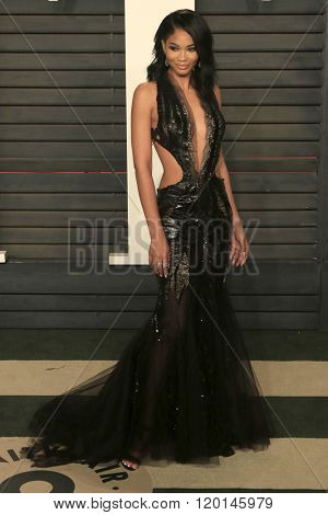 LOS ANGELES - FEB 28:  Chanel Iman at the 2016 Vanity Fair Oscar Party at the Wallis Annenberg Center for the Performing Arts on February 28, 2016 in Beverly Hills, CA