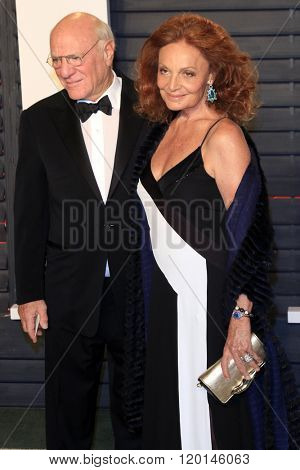 LOS ANGELES - FEB 28:  Barry Diller, Diane von Furstenberg at the 2016 Vanity Fair Oscar Party at the Wallis Annenberg Center for the Performing Arts on February 28, 2016 in Beverly Hills, CA