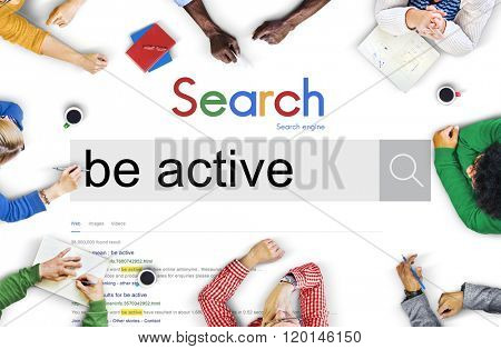 Be Active Energetic Action Exotic Fitness Concept