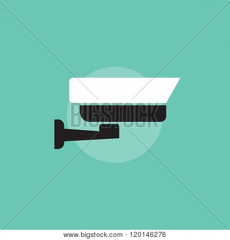 Security camera vector icon. Security camera sign in flat style. Security camera symbol