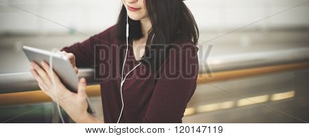 Digital Device Audio Equipment Causal Leisure Concept