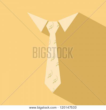 Tie worker flat design