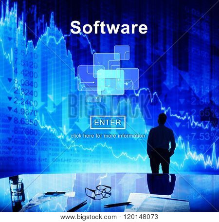 Software Digital Electronics Internet Programs Concept