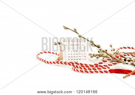 Martisor. 1 March. Soft Focus Low Key Old Master Colors.