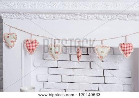 Decor in the studio in the style of romance and love