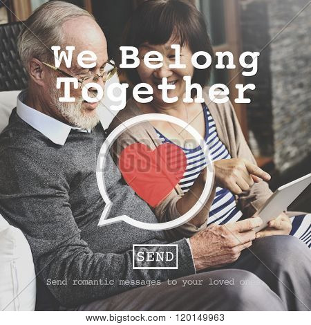 We Belong Together Valentine Romance Love Toast Dating Concept