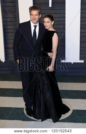LOS ANGELES - FEB 28:  David Benioff, Amanda Peet at the 2016 Vanity Fair Oscar Party at the Wallis Annenberg Center for the Performing Arts on February 28, 2016 in Beverly Hills, CA