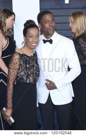 LOS ANGELES - FEB 28:  Rosalie Rock, Chris Rock at the 2016 Vanity Fair Oscar Party at the Wallis Annenberg Center for the Performing Arts on February 28, 2016 in Beverly Hills, CA