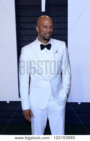 LOS ANGELES - FEB 28:  Common at the 2016 Vanity Fair Oscar Party at the Wallis Annenberg Center for the Performing Arts on February 28, 2016 in Beverly Hills, CA