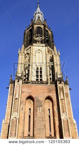 Church tower. Delft