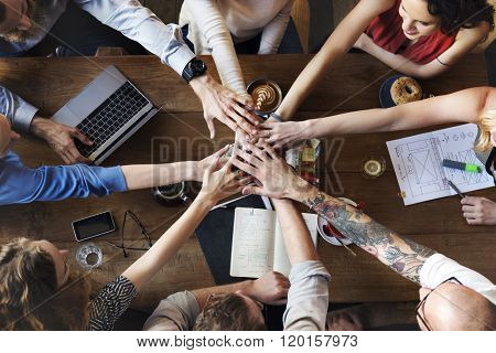 Union Unity Deal Join Hands Friends Teamwork Concept