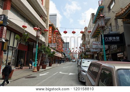 Street View Of Chinatown San Francisco