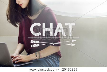 Chat Communication Social Media Networking Concept