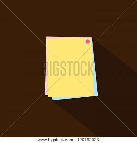 Paper icon flat design