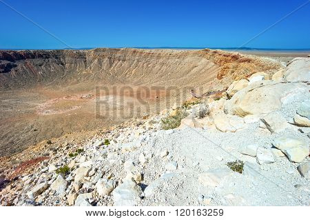 U.S.A., Arizona, Meteor City, the meteor crater near the Route 66.