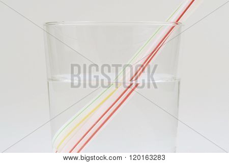 Glass Of Water And Straw