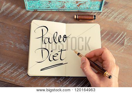 Handwritten Text Paleo Diet