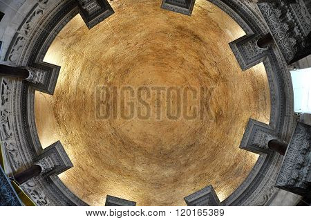 The Ceiling Of The Saint Domnius Cathedral In Split, Croatia