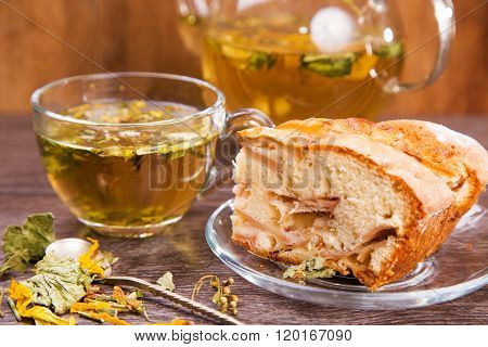 Herbal Tea With Cake