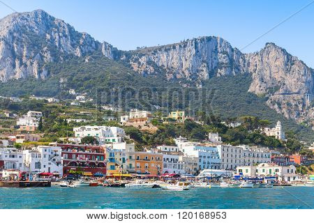 Landscape Of Capri Island, Italy In Summer