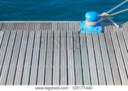 Nautical Background With Wooden Haven.