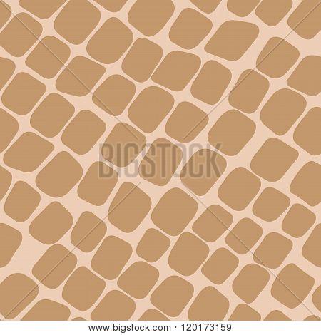 Seamless Orange Pattern With Paving Stones