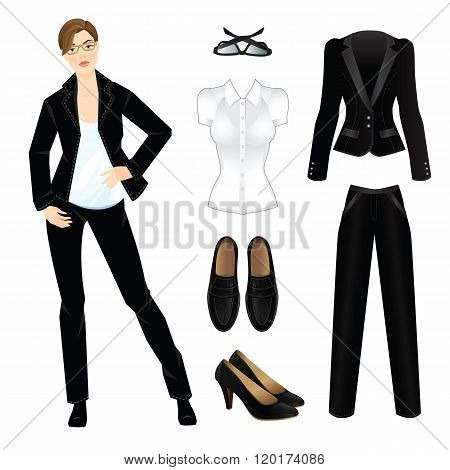 Vector illustration of corporate dress code.