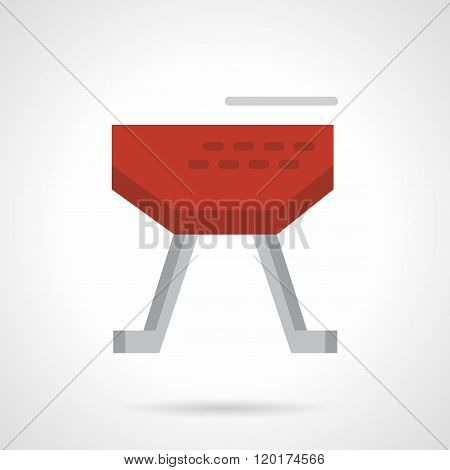 Red vaulting horse flat color design vector icon