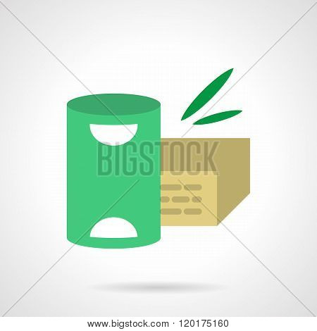 Organic meal flat color design vector icon