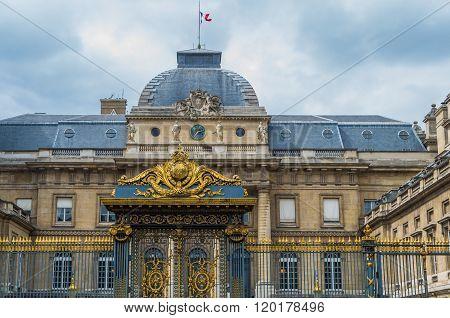 Paris France 2014 April 21 Details of the Palais de Justice de Paris