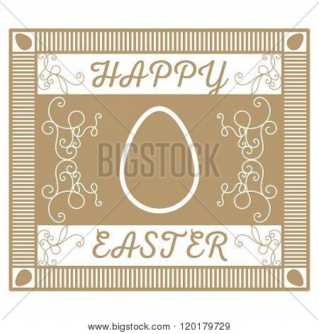 A retro a gold card with jewelry for Easter
