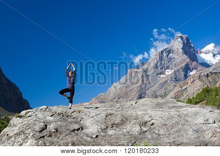 Young woman doing exercise