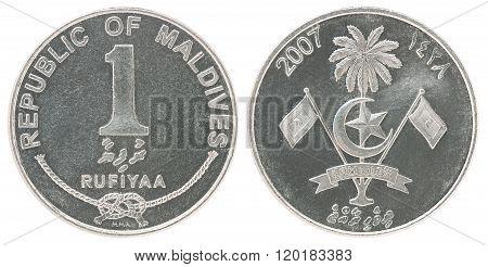 Maldivian Rufiyaa Coin