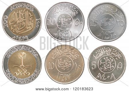Set Of New Coins Saudi Arabia