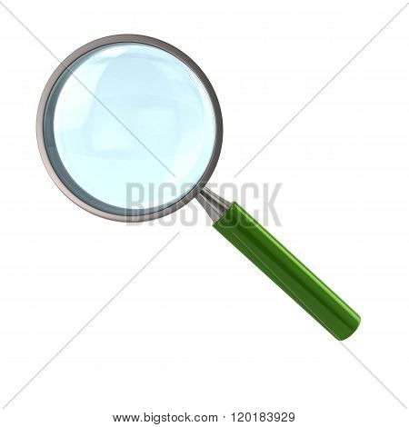 Magnifying Glass With Green Handle