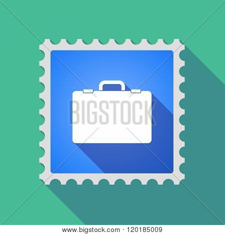 Long Shadow Mail Stamp Icon With  A Breiefcase
