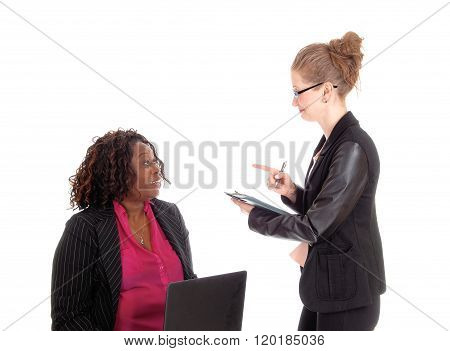 Two Professional Woman Working.