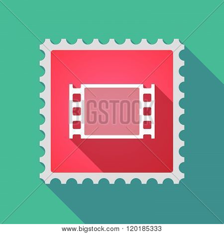 Long Shadow Mail Stamp Icon With A Film Photogram