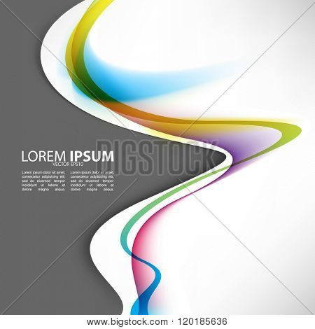 multicolored bent wave lines abstract design