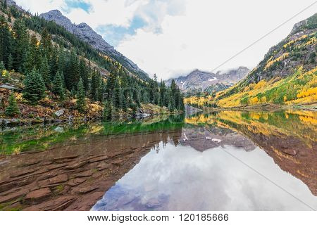 Maroon Bells Reflection in Fall