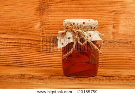 One Jar Of Quince Jam At Vintage Wood
