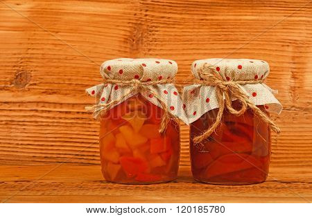 Two Jars Of Quince Jam At Vintage Wood