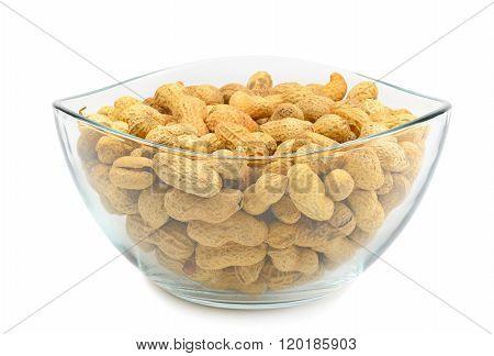 Crude Peanuts Isolated On White Background