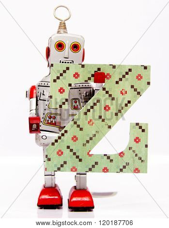 robot with letter Z