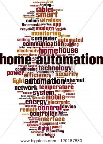 Home automation word cloud concept. Vector illustration