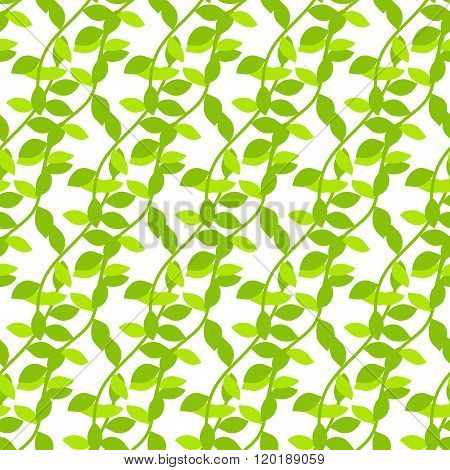 Stylized Cartoon Liana Jungle Seamless Pattern.