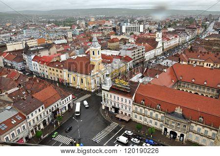 Cluj Napoca City Top View. Romania