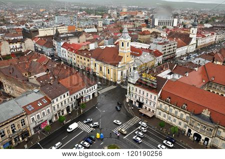 Cluj Napoca City Top View. Romania