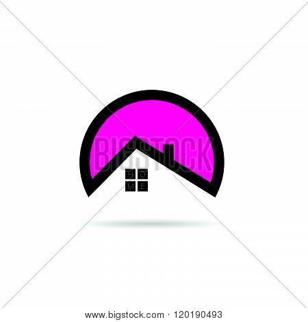 Home Icon In Pink Illustration