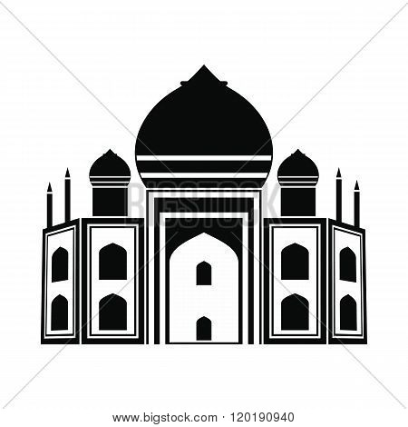 Taj Mahal, India icon, simple style